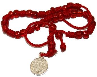 San Benito Charm Bracelet Knot Red Bracelet -  San Benito Adjustable  Red Bracelet