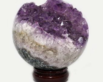 Amethyst ball, dark Crystal, 1303 grams