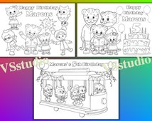 Daniel Tiger Personalized Birthday Party Printable coloring pages activity PDF file