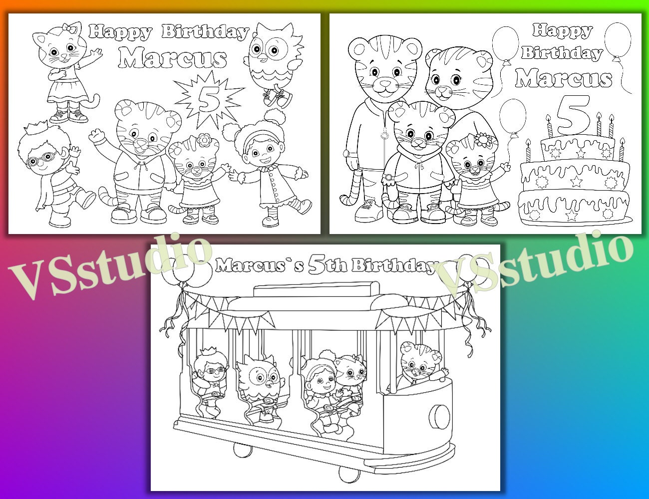 Daniel Tigers Neighborhood Coloring Pages Virtrencom