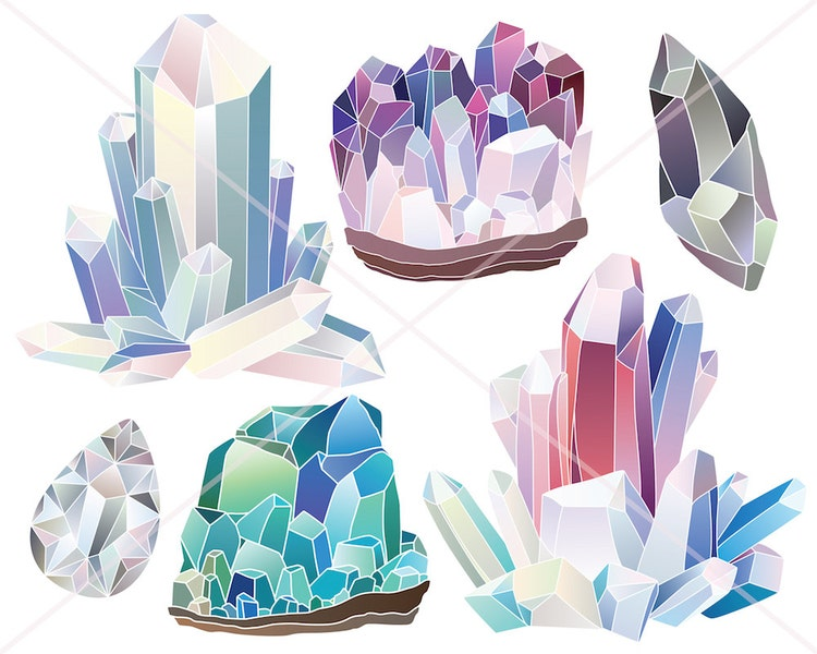 Crystals Diamonds And Minerals Clipart 29 300 By