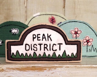 Ceramic Peak District Sign