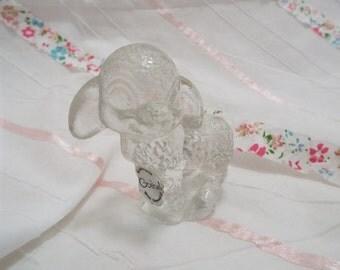 Vintage Goebel glass cyrstal lamb