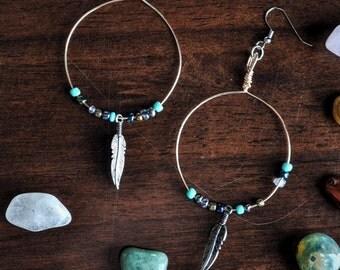 Wire hoop earrings. FREE US.SHIPPING!