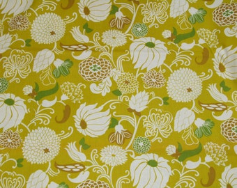 Vintage Floral Fabric by the Yard