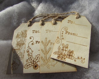 Wooden Christmas Labels