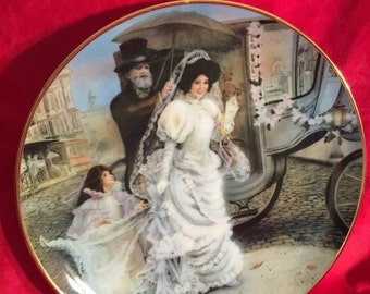 """Wedding Collector Plate: """"Jaqueline"""" 2nd in the portraits of American Brides Collection by Rob Sauber; This is plate number 0358e from 1986"""