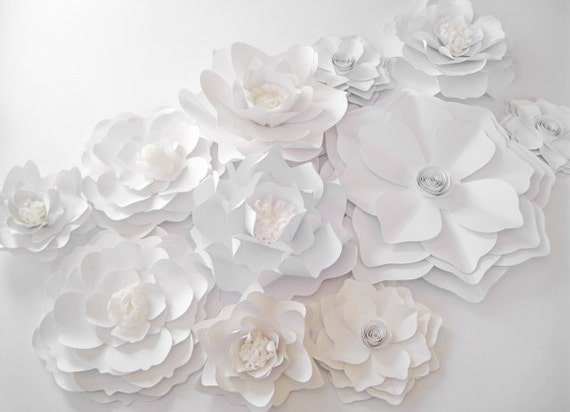 11 backdrop white paper flowers big paper flowers medium