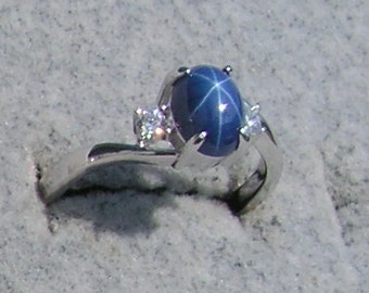 Star Sapphire Ring Etsy