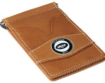 New York Jets Tan Wallet & Card Holder