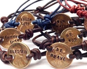 Hand-Stamped Copper Penny Bracelet