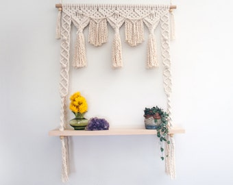 Macrame Hanging Shelf 'Fiesta'