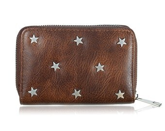 Stars wallet brown