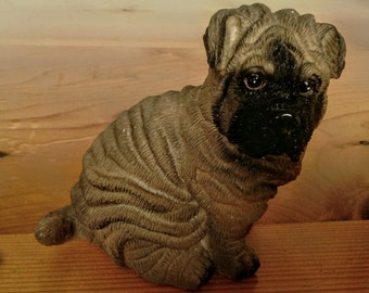 Wooden Shar Pei Dog