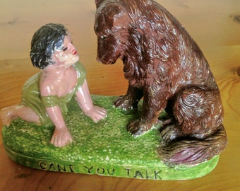 Vintage Chalk Ware Figurine Made for Carnival Prizes