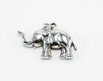 Flat Elephant Pendant