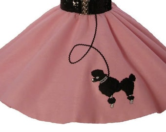 Light Pink 50's POODLE SKIRT for CHILD 4 5 6 7 8