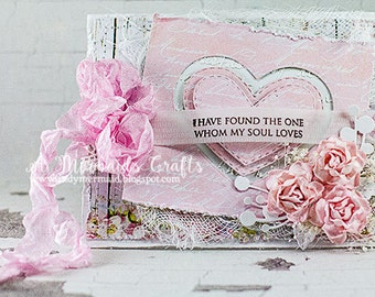 Shabby Chic Valentine / Love / Anniversary Card