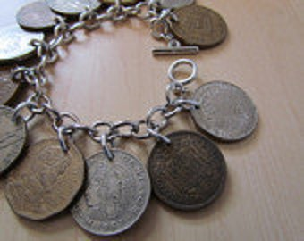 Coin link bracelet