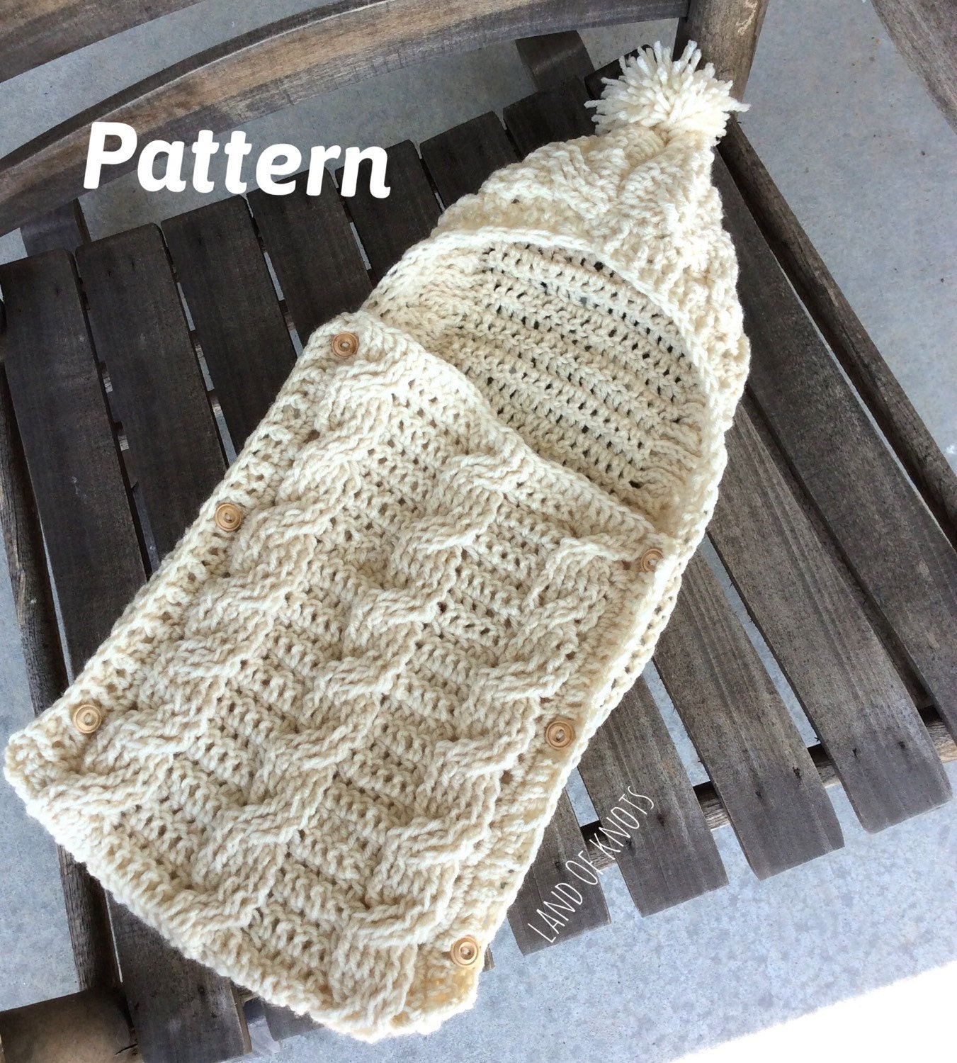 Free Crochet Pattern Hooded Baby Cocoon