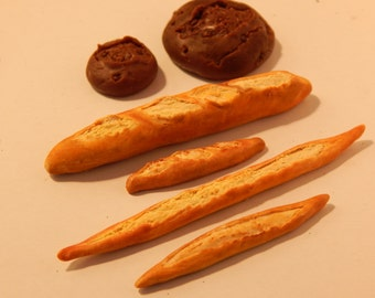 1:6 Scale Handmade French Bread for Barbie Silkstone Victoire Roux  1/6 scale  Playscale Food