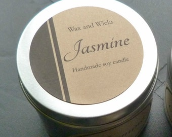 Jasmine soy wax candle tin Net 100 g