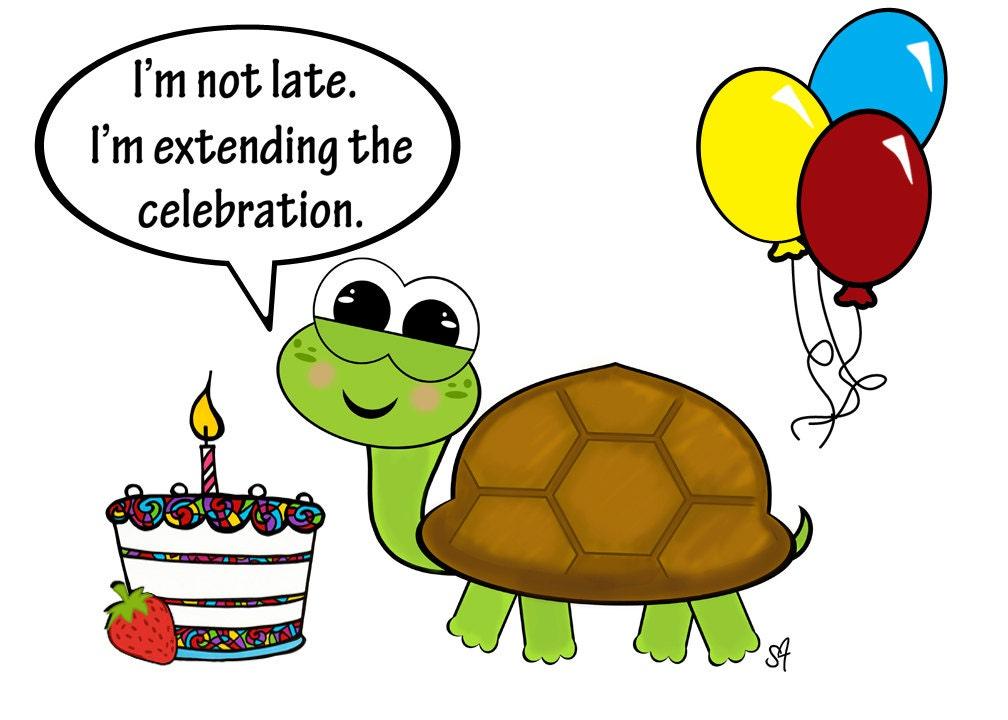 Turtles 3 Styles Belated Birthdaythank Youchristmas Postcards