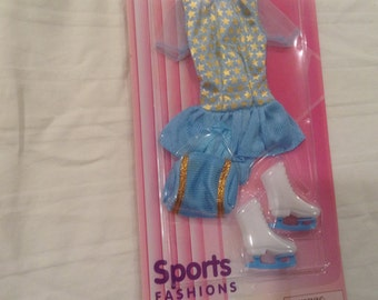 Vintage Barbie Sports Fashion Ice Skating outfit - 1996 - New