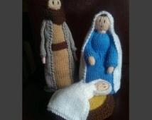 Hand Knitted Christmas Nativity Set