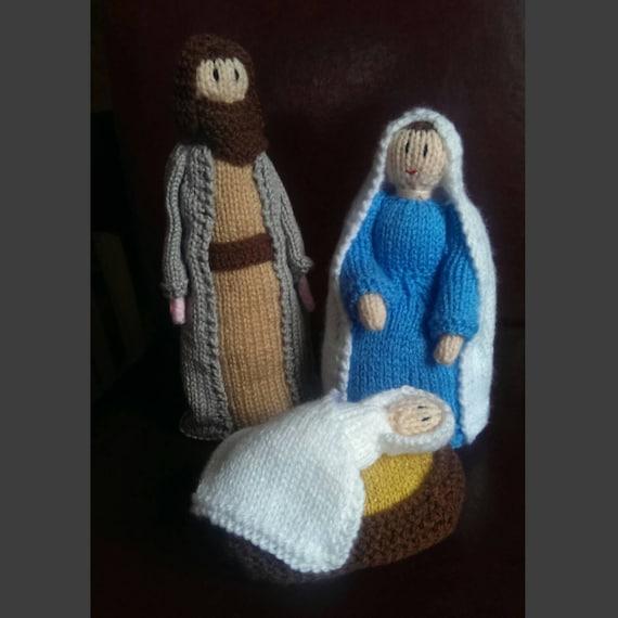 Christmas Nativity Knitting Patterns : Hand Knitted Christmas Nativity Set