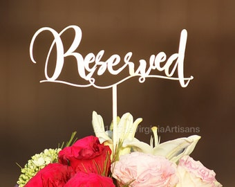 Reserved Sign. Reserved Table Signs. Reserved Table. - Set of 5 - Gold - Silver - DIY - Garden Line