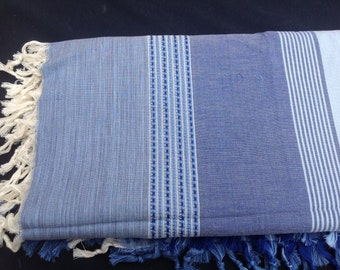 Hand Woven 100% Natural Cotton Queen Size Blanket