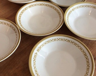 Six Vintage Syralite by Syracuse Honeycomb Bowls