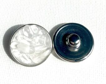 Snap charm Quartz Crystal gemstone snap jewelry jewelry interchangeable charm bracelet