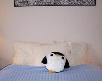 """Crochet 14"""" Penguin Pillow"""