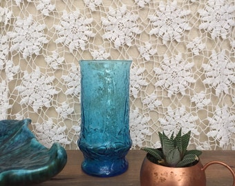 Turquoise flower vase vintage