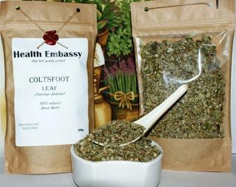 Coltsfoot Leaf 50g ( Tussilago farfara )- Health Embassy - Organic