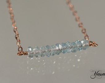 Faceted Topaz rose gold plated
