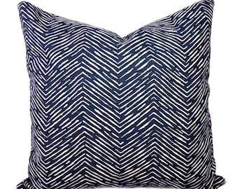 Navy Herringbone Throw Pillow Cover, Navy and White Pillow Cover, Chevron Pillow, Cameron Navy Pillow Cover, Chevron Pillow, Navy Chevron