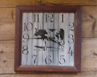 LARGE Cow Wall Clock Free Shipping