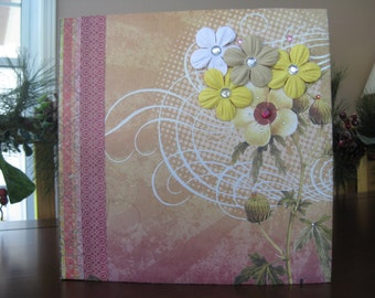 Bouquet of Flowers Scrapbook Album
