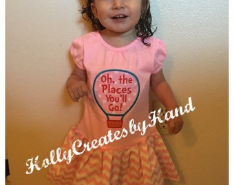 Dr Seuss Dress - Oh, the Places You'll Go