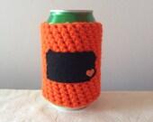 Philadelphia Hockey | Philadelphia, Pennsylvania Crochet Beer Cozy, Bottle Cozy, Coffee Cup Cozy by Maroozi