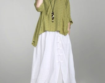 women linen dress/women summer dress/women comfortable dress/