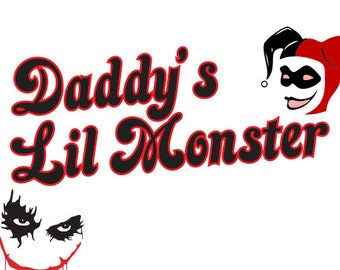 Svg File Daddys Lil Monster Harley Quinn SVG Download Cutting File