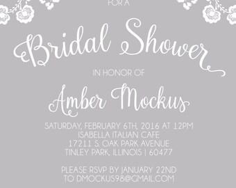 Custom Bridal Shower Invitation