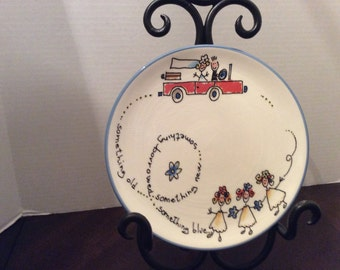 Vintage Brunelli Tiffany  Wedding Plate, Italy, Bride and Groom, Something Borrowed, Something New