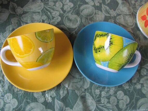 Alpine cuisine cup saucer set fine porcelain italy for Alpine cuisine coffee cups
