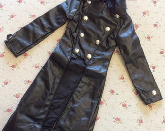 BJD faux leather outfit BJD leather coat Sd 17 boy leather coat  BJD outfits