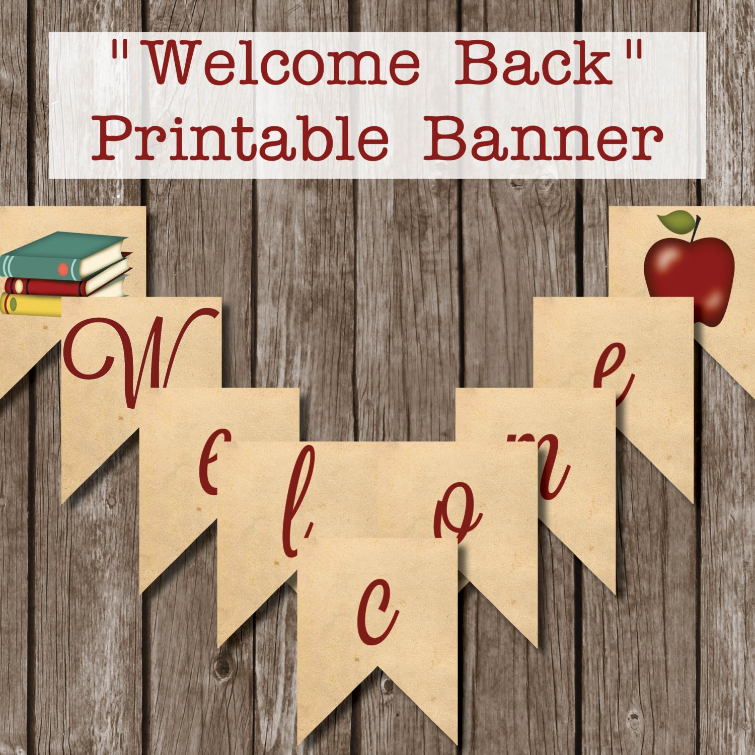 It is an image of Crafty Welcome Back Banner Printable